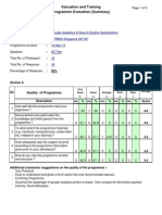 SMA Feedback on KC Tan SEO / Analytics Training