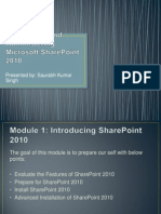 Module 1- Introducing SharePoint 2010