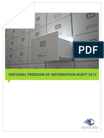 Freedom of Information Audit 2012