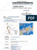 NDRRMC Update Severe Weather Bulletin No. 17 Re Typhoon LAWIN 25 Sept 2012