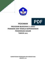 Pedoman Beasiswa PTK 2012