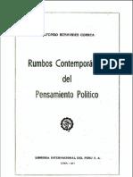 El Aprismo frente al nacionalismo, el imperialismo y el supranacionalismo americano | Alfonso Benavides Correa