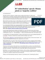 Full audio of 1998 'redistribution' speech Obama saw welfare re