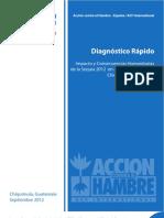 Impacto y Consecuencias Humanitarias de la Sequía 2012 en el Departamento de Chiquimula, Guatemala