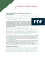 Análisis del papel que juega la tecnología en la gestión del conocimiento