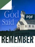 When God Said Remember Pdf