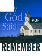 Why God Said To Remember