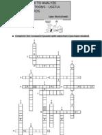 Cartoon Analysis Crossword Puzzle