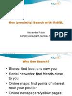 Mysql Geo Search