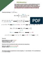 2005 Matemáticas