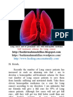 Lung Cancer and Its Homeopathic Self Treatment Scheme _ Bashir Mahmud Ellias