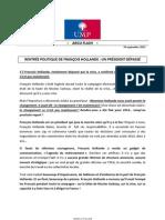 2012-09-10- Argumentaire Ump - Rentree Politique de Francois Hollande