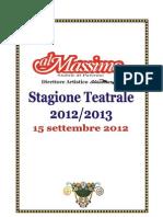 Programma Teatro Al Massimo