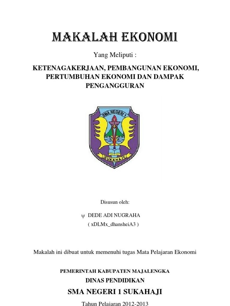 Contoh Makalah Pembangunan Ekonomi Desa