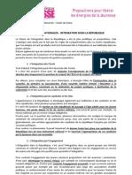 Livre Blanc Etats Généraux de la Jeunesse 92 - Focus - Propositions Integration dans la République