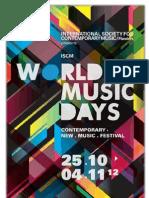 Malachevsky y Luna Procupez en el Festival WORLD NEW MUSIC DAYS 2012