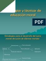 Estrategias y técnicas de educación moral