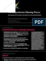 PL511 URP - LECTURE007 - Comprehensive Planning Process