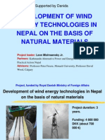 Development of wind energy in Nepal
