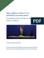 Rajoy regalará un iPhone 5 a los pensionistas que mueran pronto