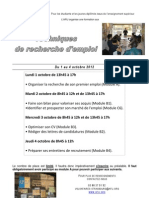 Affiche A3 Modules Octobre 2012