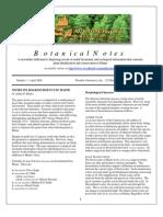 Botanical Notes 1