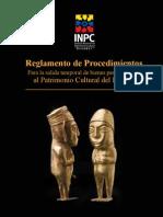 Reglamento de Procedimientos Para La Salida Temporal de Bienes Pertenecientes Al Patrimonio Cultural Del Ecuador