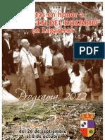 Programa Virgen Rosario Lagartera 2012