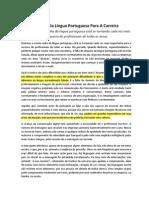 A Importancia Da Lingua Portuguesa Para a Carreira
