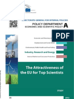 Attractiveness of the EU for Top Scientists