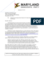 MDP Letter to the Office of Congressional Ethics regarding Roscoe Bartlett and Alex Mooney