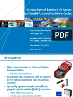 Comparison of Battery Life Across Real-World Automotive Drive-Cycles