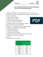 BALANCE DE MATERIA Y ENERGIA EN UN REACTOR TUBULAR ADIABATICO DE LECHO FIJO CON DIFUSIÓN RADIAL