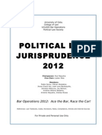 Political Law Jurisprudence