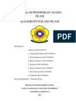 Makalah Seni Dalam Islam Kaligrafi