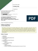 ETIQUETADO FDA (Labeling Guide)