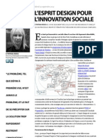 L'esprit design pour l'innovation sociale