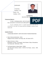 Commerce and Business Administration in Lecturer Resume