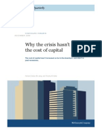 Y the Crisis Hasnt Shaken the Cost of Capital