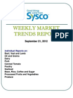 Sysco Weekly Market Trends Report 9/21/2012