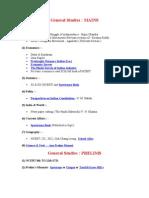 General Studies & History Booklist
