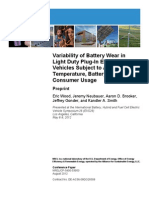 Variability of Battery Wear in Light Duty Plug-In Electric Vehicles Subject to Ambient Temperature, Battery Size, and Consumer Usage