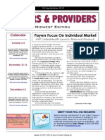 Payers & Providers Midwest Edition – Issue of September 25. 2012