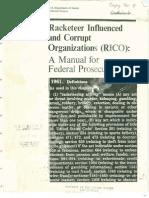 USDOJ RICO Manual of Federal Prosecutors-1993