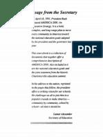 A Message From the Secretary-Goals 2000-GHW Bush-Lamar Alexander-1991-66pg-EDU