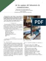 Descripción de los equipos del laboratorio de comunicaciones.