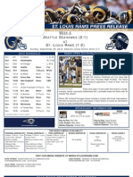 Week 4 - Rams vs. Seahawks