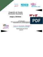 Programa Educativo de 10mo y 11mo de Lengua y literatura