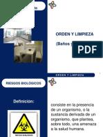 ORDEN Y LIMPIEZA EN BAÑOS Y COMEDOR
