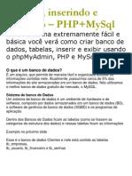 PhpMyAdmin Tutorial
